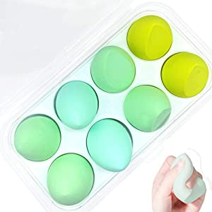 KuuGuu 8 PACK Beauty Blender Sponge Egg,Makeup Sponge,Foundation Blending Spong Facial Sponges for Liquid Cream Face Powder