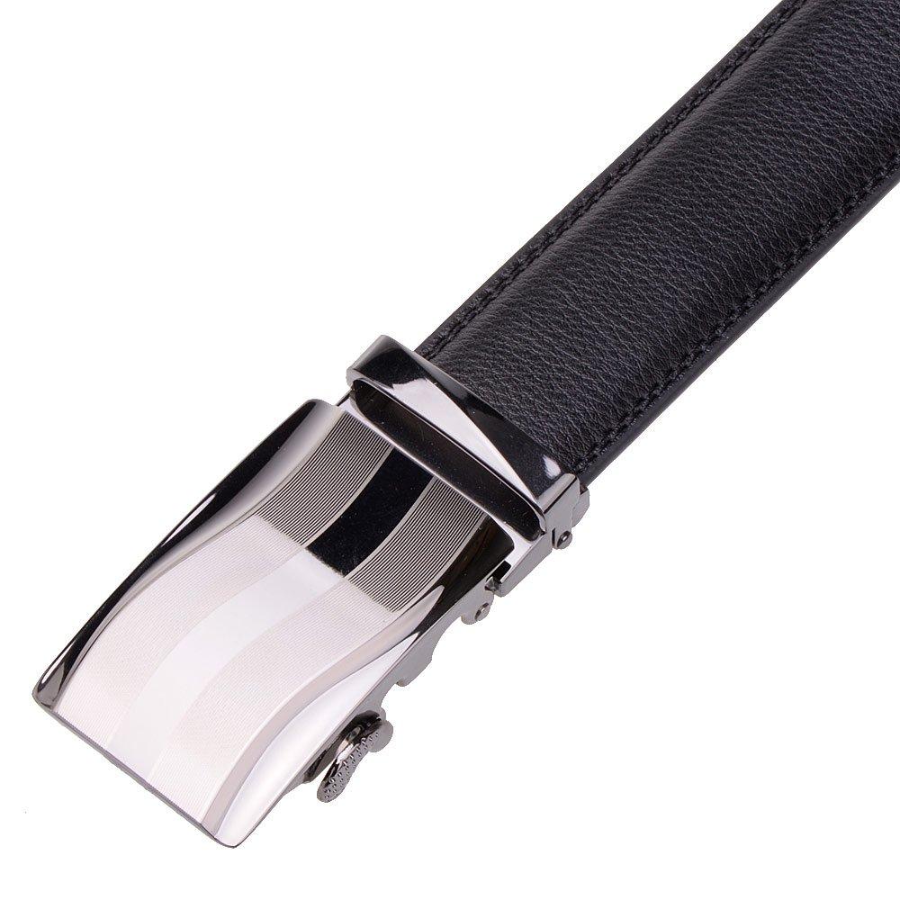 Vbiger Mens Belts Leather Waist Belt Automatic Buckle Belt 1.5\'\'