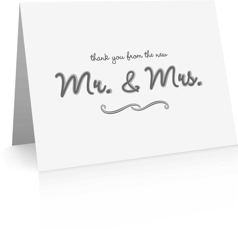 Biglietti Thank You per nozze (40 biglietti e buste Thank You pieghevoli per matrimoni) Comptime