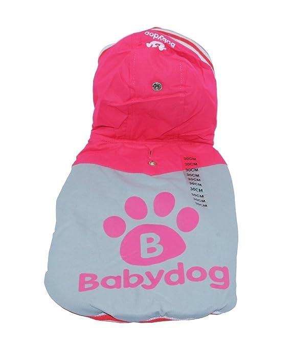 BABYDOG 881020 Abrigo Ropa para Mascotas Perro Otoño e Invierno Caliente chaleco chaqueta Jacket (ROJO, M): Amazon.es: Hogar
