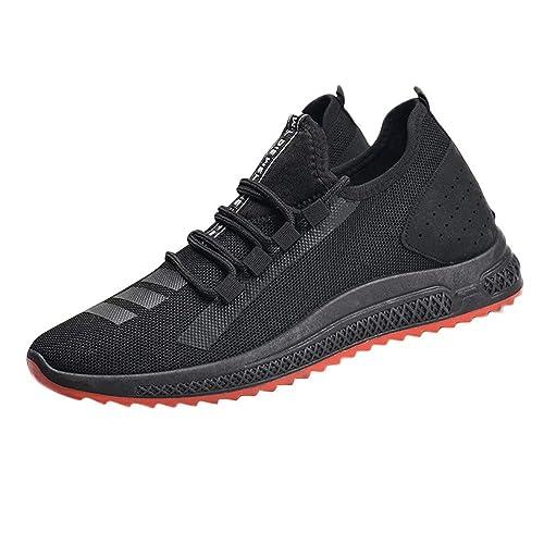 Zapatillas Deporte Hombres Mocasines Hombre Hombres Sólido Malla Cruzada Atado Ventilación Gimnasio Zapatos para Correr Zapatos Ocasionales: Amazon.es: ...