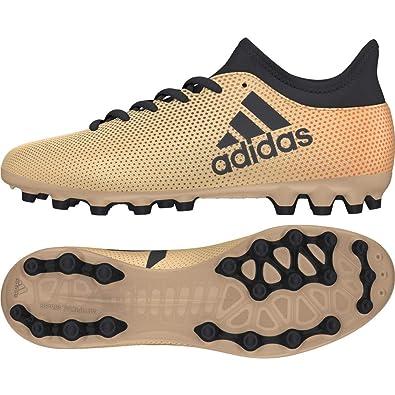 the latest c6783 72fb6 adidas Unisex-Kinder X 17.3 AG Fußballschuhe, Gold (TagomeCblackSolred