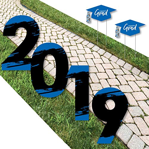 Big Dot of Happiness Blue Grad - Best is Yet to Come - 2019 Yard Sign Outdoor Lawn Decorations - Royal Blue Graduation Party Yard Signs - -
