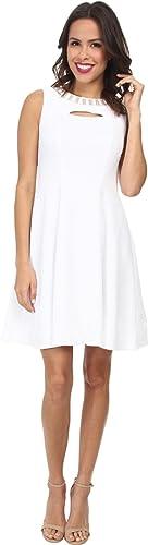 Christin Michaels Women's Textured Knit Keyhole Dress