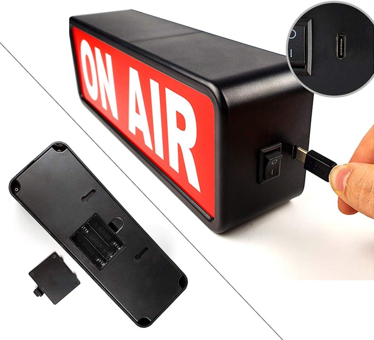 QMic ONAIRライト オンエアー サインランプ ON AIRサイネージ インテリア