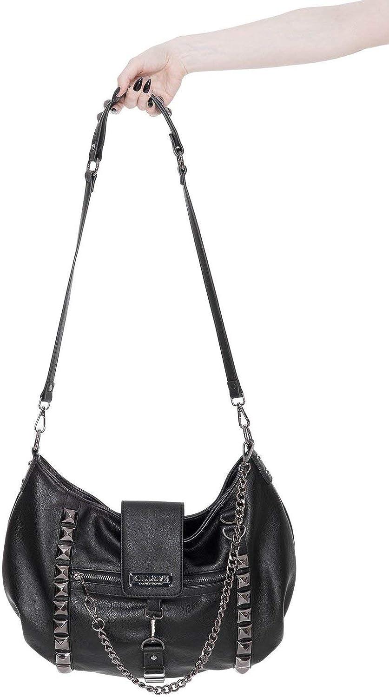 Killstar Plectrum Studded Chain Gothic Punk Witch Vegan Handbag Purse KSRA001748