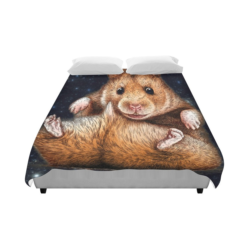 Artsadd Animal Marmots in Galaxy Space Duvet Cover Case Quilt Cover 86''x70''