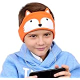 Kids Headphones - Easy Adjustable Kids Costume Headband Silky Headphones for Children, Perfect for Travel and Home - Fox