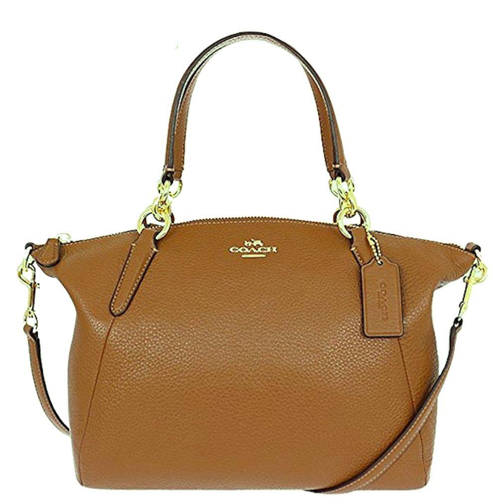 Coach Leather Small Kelsey Cross Body Bag (Light Saddle)