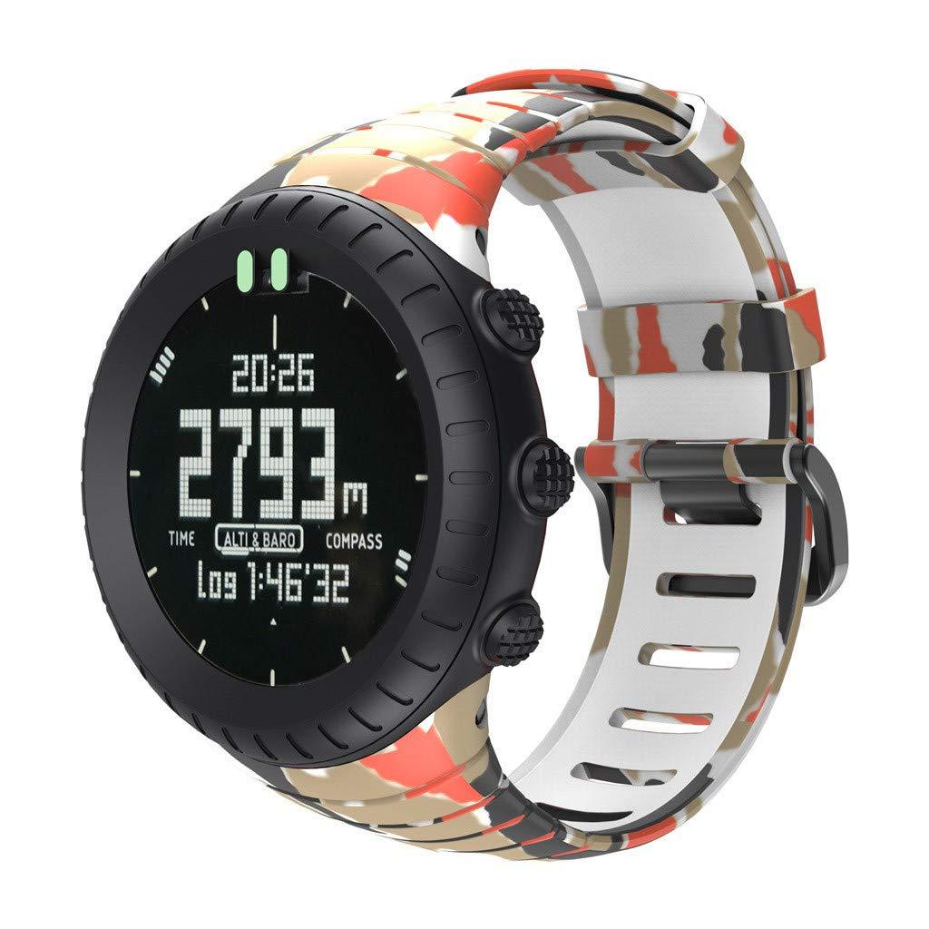 Reemplazo de Silicona con Correa de Banda para el Reloj Inteligente SUUNTO Core Silicona Ajustable Longitud: 140-230mm riou: Amazon.es: Electrónica