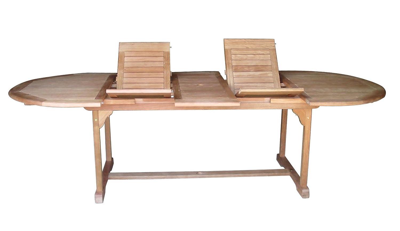 Liberia Gartentisch aus Eukalyptus Auszugfunktion Tisch Holztisch