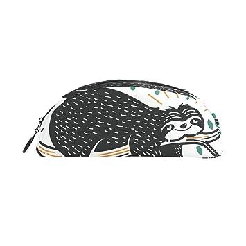 BENNIGIRY Vecteezy Sloth - Estuche para lápices de semicirculos, gran capacidad, bolsa para bolígrafos