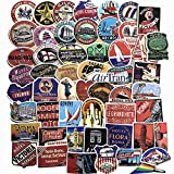Stickers 55-Pcs PVC Decals of Vintage Travel & Hotel Waterproof Sunlight-Proof DIY Ideals for Cars, Motorbikes,SpinnerLuggages, Laptops