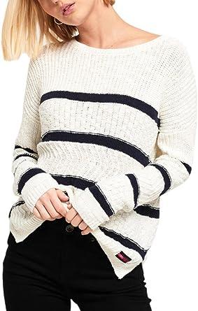 buy online bdf32 51550 Superdry Damen Pullover, Gestreift Gr. Medium (36-38), Liner ...