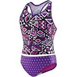 Speedo Girls' 2-Piece Swim Tankini Purple Geo (12)