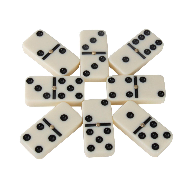 Amazon.com: Dominoes, Kictero Set of 28 Double Six Dominos Game ...