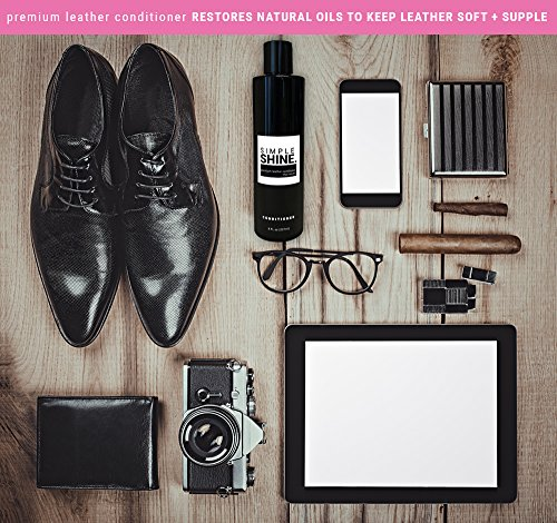 Premium Leather Conditioner | No Stain Restore, Protect & Condition Shoes, Boots, Bags & Furniture by Simple Shine (Image #1)