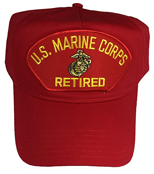 US MARINE CORPS RETIRED USMC HAT - RED - Veteran Owned Business