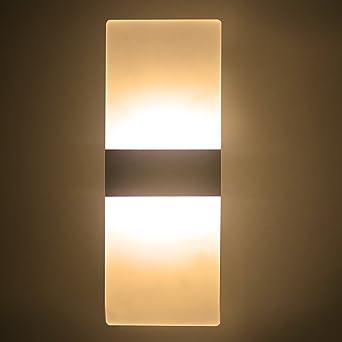 NetBoat 6W LED Wandleuchte WandlampeAcryl Up Down Wohnzimmer Schlafzimmer Lichter Lampen