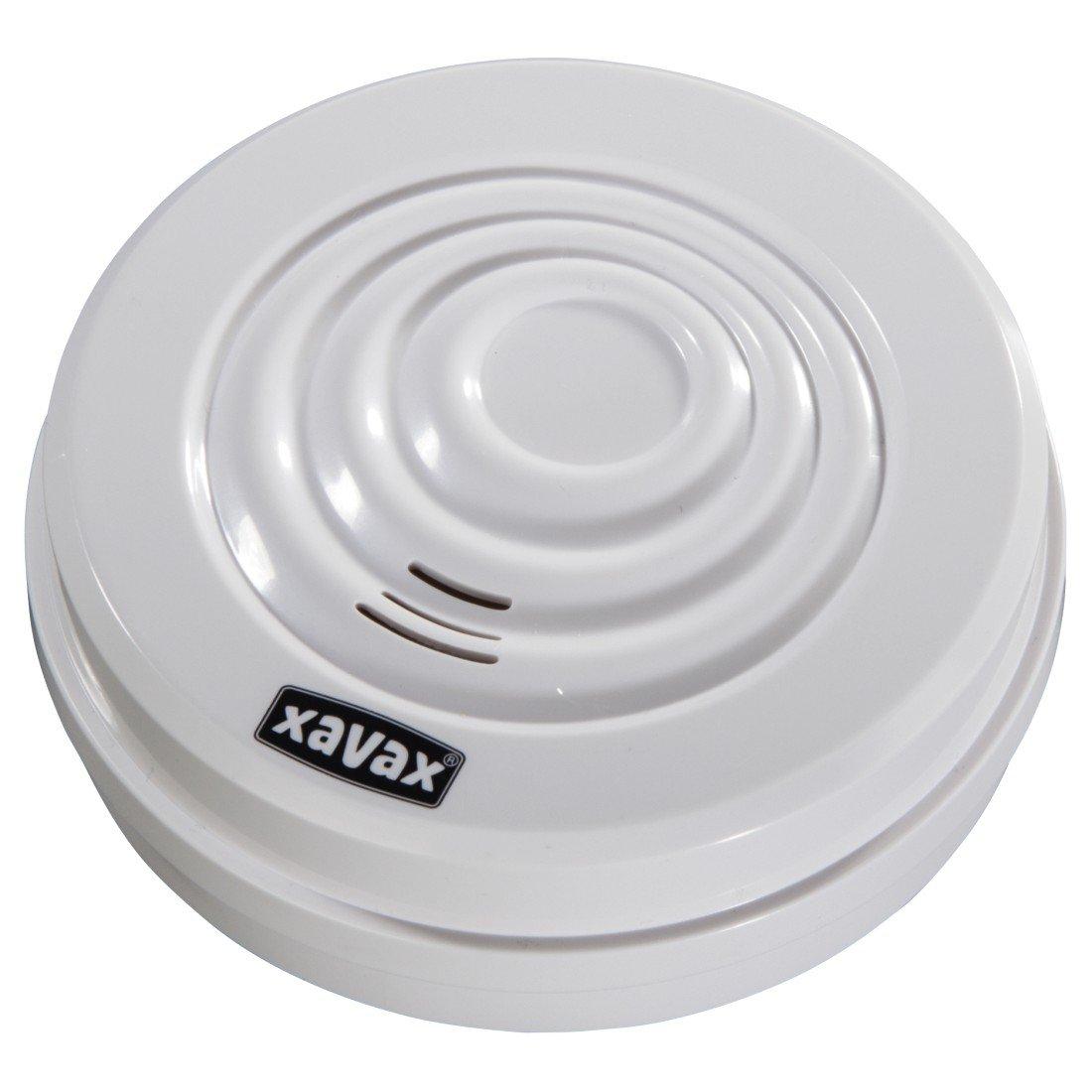 Xavax Wassermelder zum Schutz vor Überschwemmungen oder Wasserschäden, Alarmanlage für Bad, Keller, Heizraum etc., extra lautes Alarmsignal (95 dB) weiß Hama 00176504