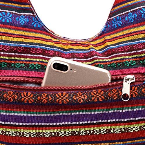 Blanco M para Vino hombro al Rojo mujer blanco Senoow Bolso Cw7Pq47X