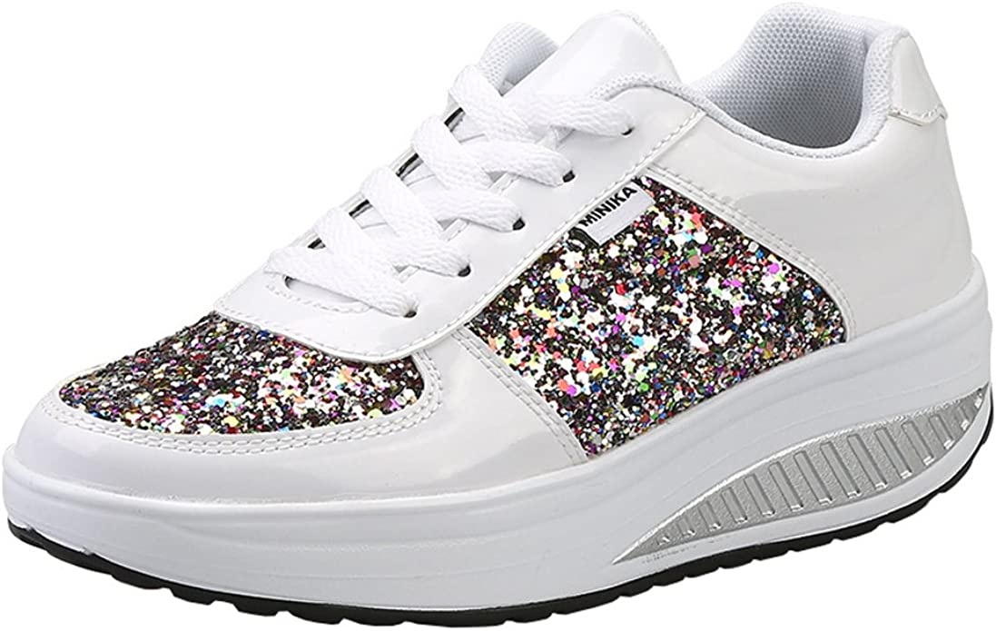 Fashion Women Platform Shoes Breathable Fitness Walking Sport Sneakers Trainers