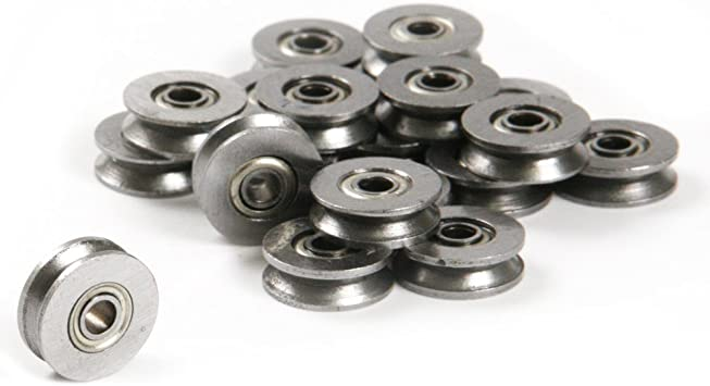 10pcs HCS Deep V Groove Sealed Guide Line Track Pulley Ball Bearing 3*12*4mm .HH