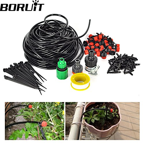 Price comparison product image Zopho (TM) 25m 30 Drip Nozzles DIY For Garden Watering Sprinklers Plants Irrigator Dripper Hose Kits Greenhouse Drip Irrigation System