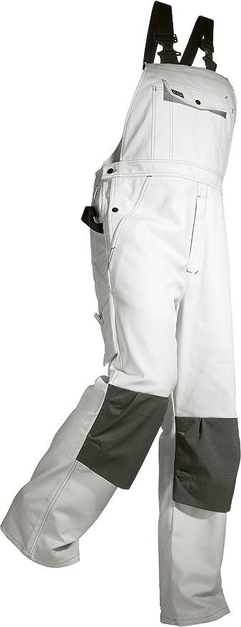 2611 Blaklader White Painters Bib Overalls with Cordura Kneepad Pockets