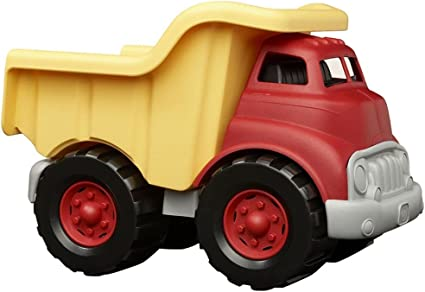 Fine Motor Skills BPA Free Green Toys Dump Truck in Pink Color Play Vehicles Phthalates Free Play Toys for Improving Gross Motor