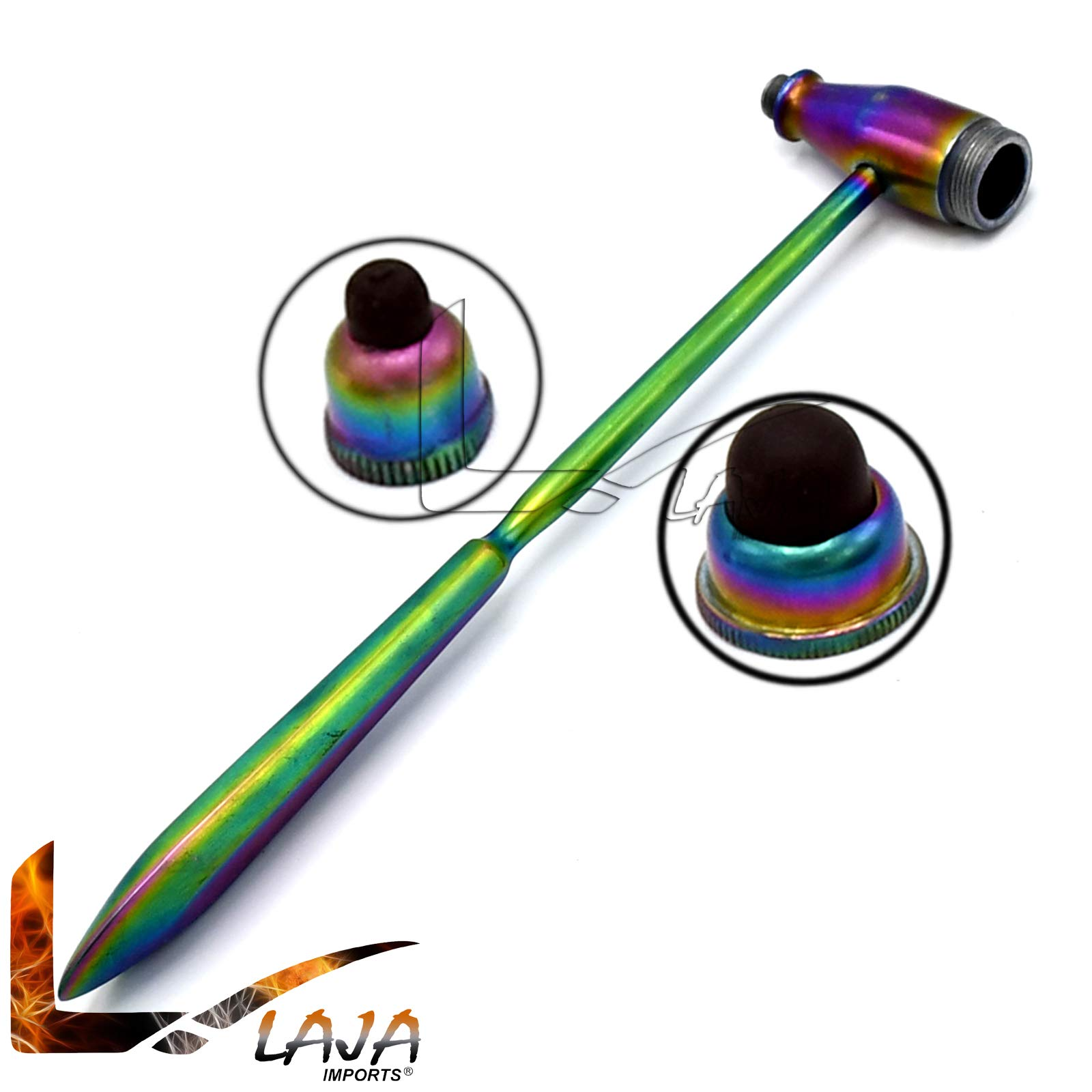 LAJA Imports Tromner Percussion Hammer Chiropractic Physical Therapy - Troemner Hammer (Multi Color)