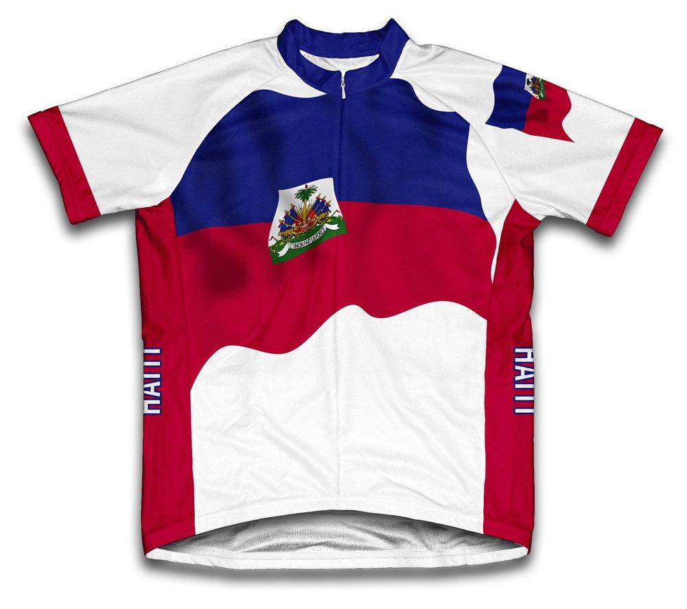Haïti Drapeau Maillot de cyclisme à manches courtes pour femme Large Blanc - blanc   B00EDKR4QQ