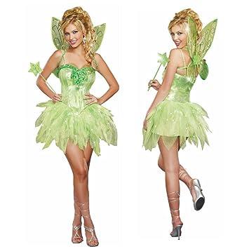 Kostum Grune Fee Damen Kleid Marchen Feenkostum Elfe Fasching Gr M