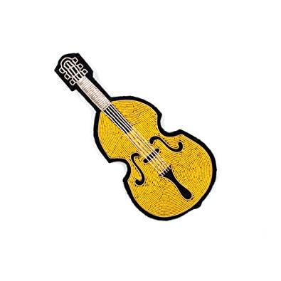 ZHENZHIA Broche Notas de Guitarra Bordadas a Mano con Micro ...