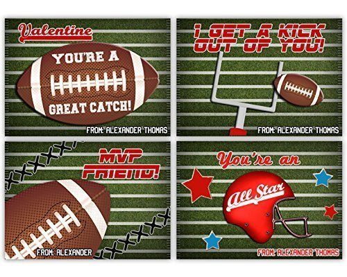 Amazon football valentines cards for boys classroom all star football valentines cards for boys classroom all star m4hsunfo