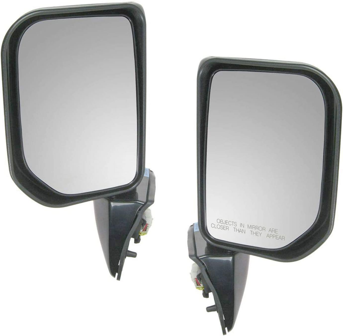 NEW POWER MIRROR GLOSS BLACK RIGHT FITS 2007-2014 TOYOTA FJ CRUISER TO1321250