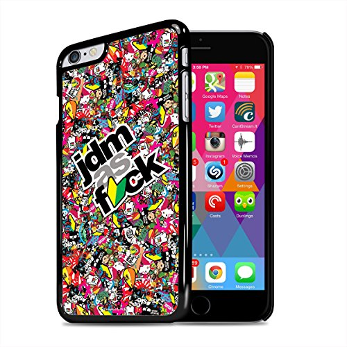 Apple iPhone 6 Plus jdm as fck Sticker Bomb Black Cell Phone Case