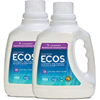 2-Pk Earth Friendly Products Ecos 2x Liquid Laundry Detergent
