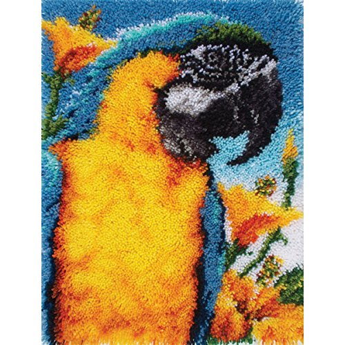 Spinrite Wonderart Classic Latch Hook Kit, 20 by 27-Inch, Macaw by Spinrite