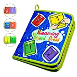 zipper board - Aodicon Early Learning Basic Life Skills Toys Quiet Book,Montessori Learn to Dress Boards Toys Quiet Book - Zip, Snap, Button, Buckle, Lace and Tie,Educational Toy For Toddlers