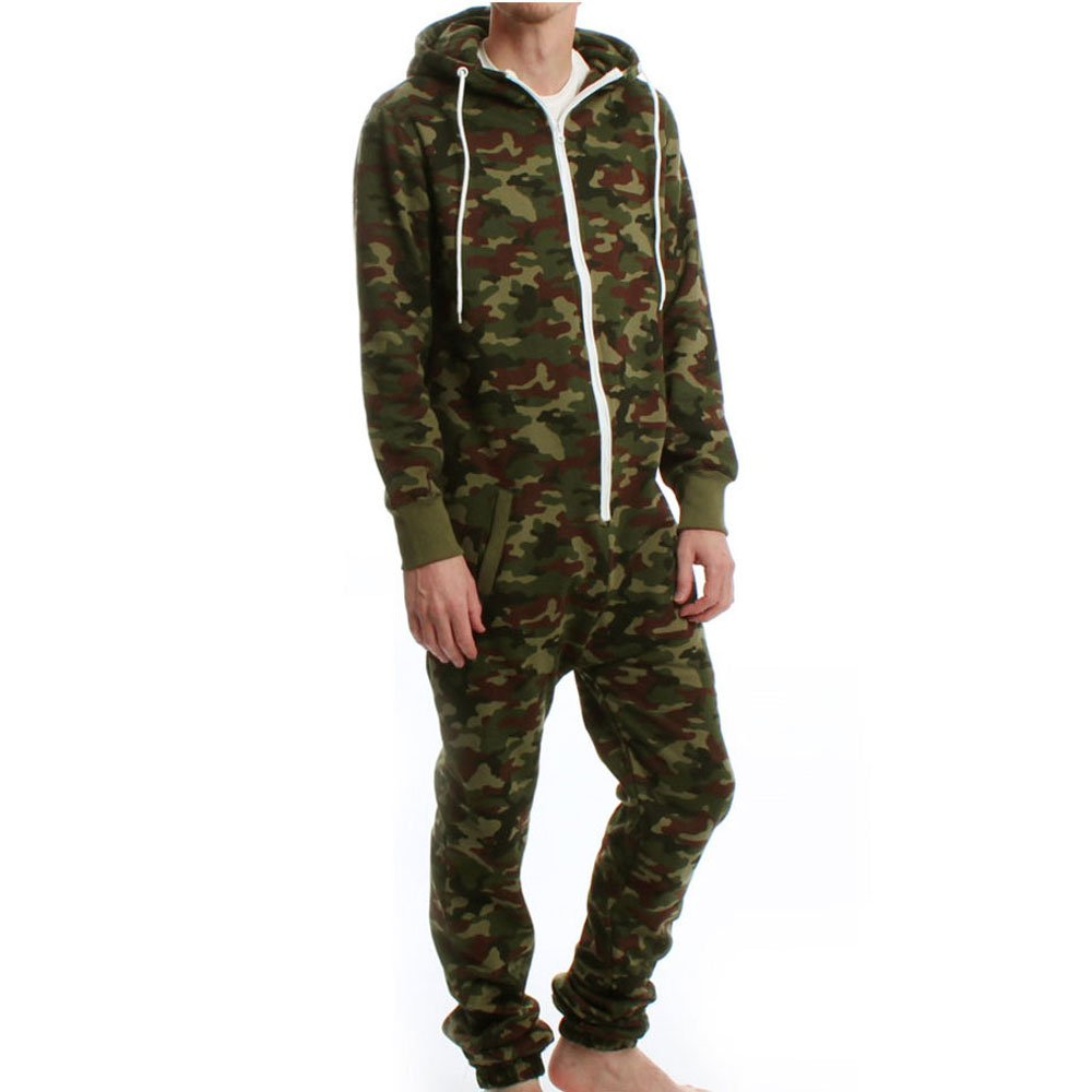 Army Camouflage Hooded Fleece Onesie Paramount