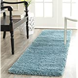 Safavieh SG180-6060-24 Milan Shag Collection Area Runner, 2-Feet by 4-Feet, Aqua Blue