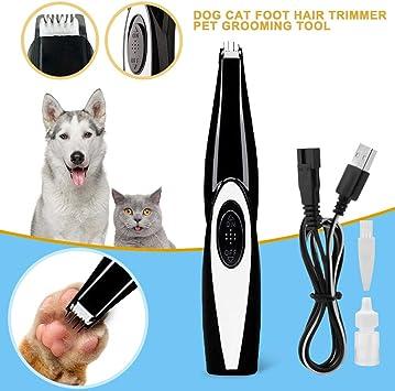 Electric Clippers Coupe Toilettage faible bruit sans fil pour animal de compagnie chiens et chats