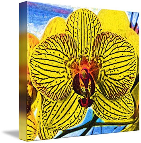 Yellow Orchid Bloom In Fauvism by Kirt Tisdale