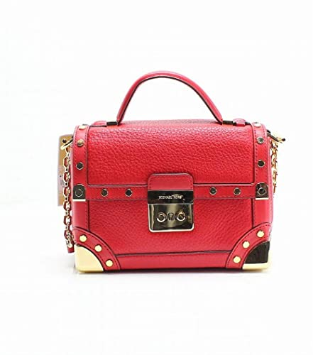 38550b12eab6 MICHAEL Michael Kors Cori Small Leather Trunk Bag - Bright Red ...