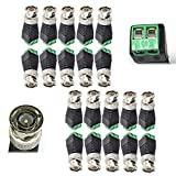 Igreeman 20 Pack BNC Connector Male Cat5 UTP Video Balun Transmitter Upgraded Gold-Plated pin with Screw-Lock Terminal for Coax Cat5e Cat6 Twisted Cables to CCTV Security Surveillance Cameras Cabling