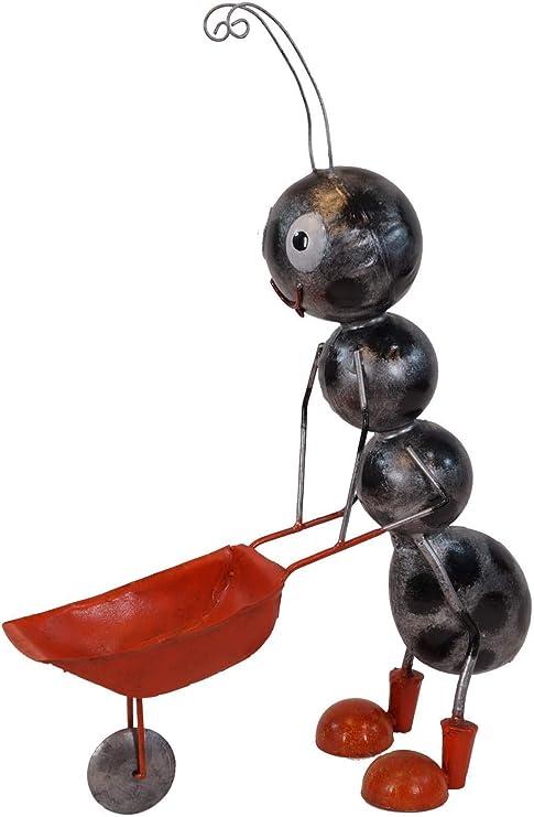 Amicaso Hormigas con Carretilla, decoración de jardín, decoración de Metal: Amazon.es: Jardín
