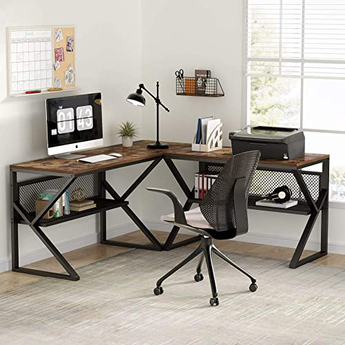 Tribesigns 3 Piece K-Frame L-Shaped Desk