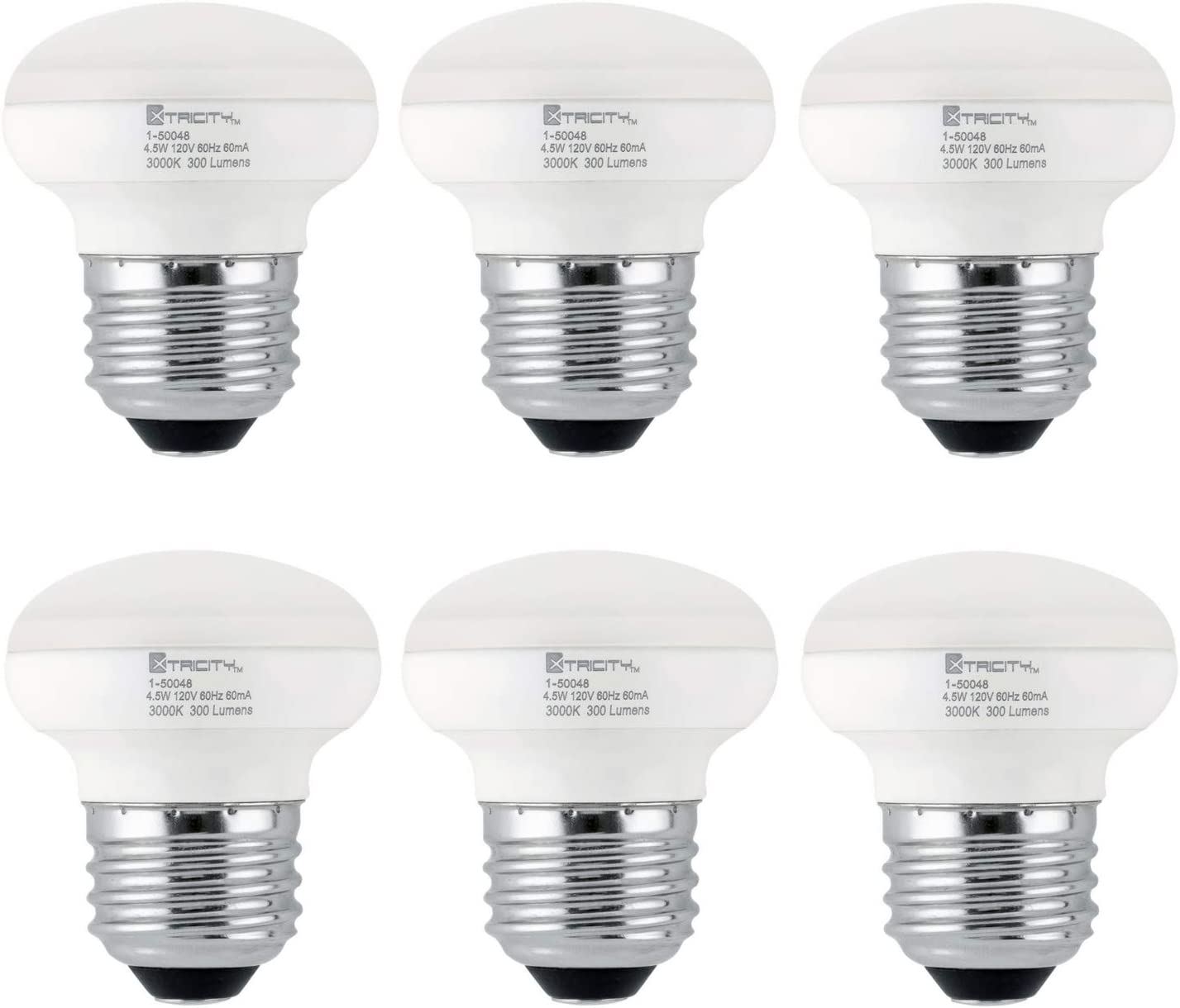 R14 LED Light Bulb, 4.5W (40W Equivalent), Dimmable, 300 Lumens, 3000k Soft White, E26 Medium Base, RoHS Compliant (6 Pack)