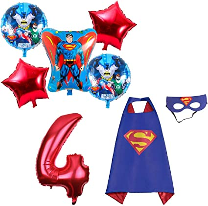 Amazon.com: CuteTrees Super Hero Superman 4º cumpleaños ...
